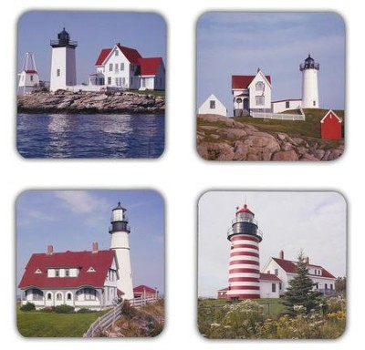 Lighthouses Birthday Cards, Box of 16  -     By: Kraig Anderson