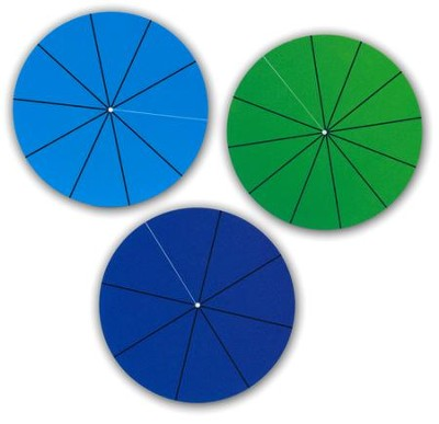 Interlocking Fraction Circles Student Set   -