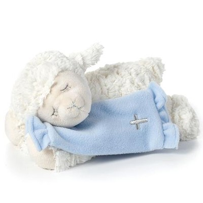 Prayer Lamb, Now I Lay Me Down To Sleep, with Blanket, Blue  -