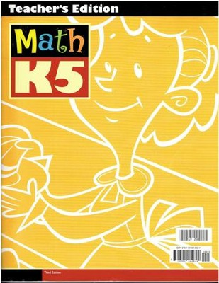 BJU Math K5 Teacher's Edition (3rd Edition)   -