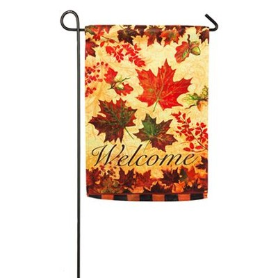 Fall Leaves Suede Reflections Flag, Small   -     By: Geoff Allen