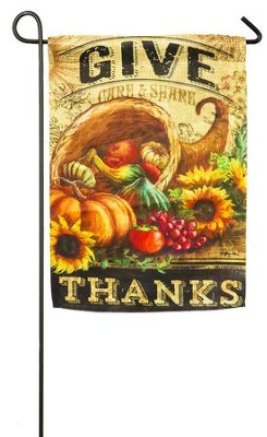 Give Thanks Cornucopia Flag, Small  -     By: Geoff Allen