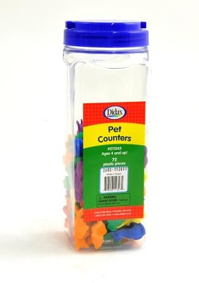 Pet Counters Set of 72   -