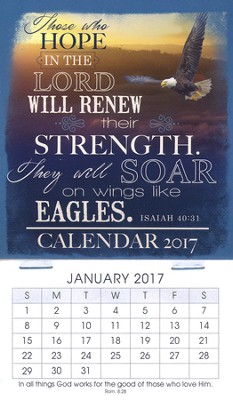 2017 Those Who Hope Mini Magnetic Calendar  -