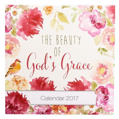 2017 The Beauty of God's Grace Wall Calendar, Large  -