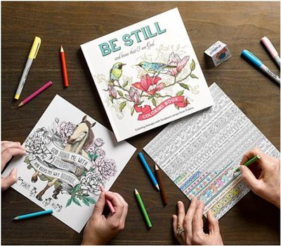 Be Still and Know That I Am God, Coloring Book For Adults  -