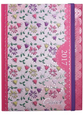 2017 Grace Weekly Planner, Pink Floral  -