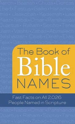 The Book of Bible Names: Fast Facts on All 2,026 People Named in Scripture - eBook  -     By: Pamela McQuade