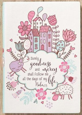 Psalm 23 Flexcover Journal, Silk, White  -