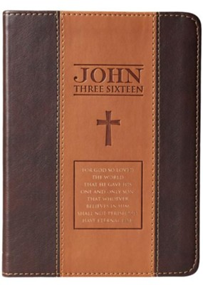 John 3:16 Journal, LuxLeather, Two-Tone, Brown  -