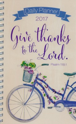 2017 Give Thanks Wirebound Daily Planner  -