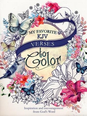 My Favorite KJV Verses, Coloring Book  -