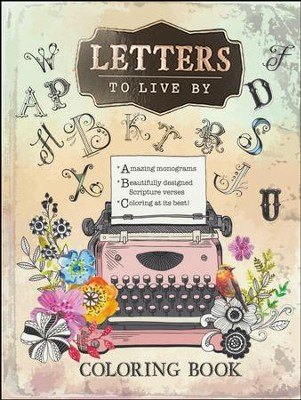 Letters to Live By Coloring Book  -