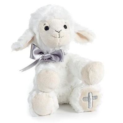 Plush Lamb with Embroidered Cross  -