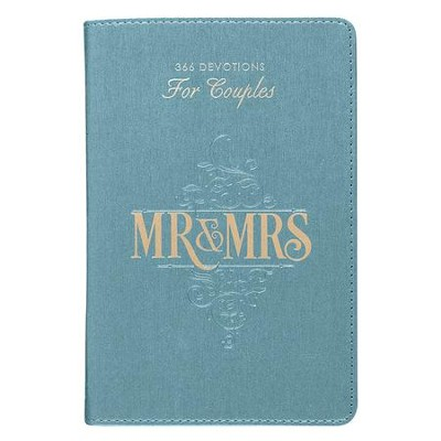 Mr. & Mrs. 366 Devotions for Couples faux leather                      -