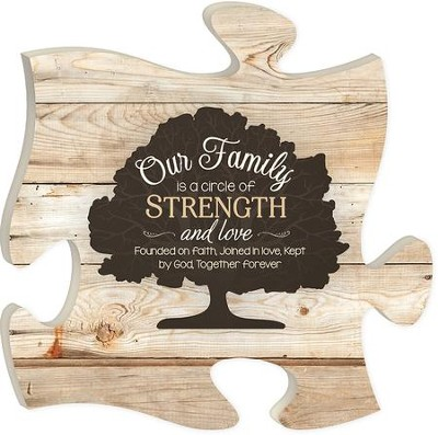 Our Family Is A Circle Of Strength and Love, Puzzle Art  -