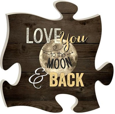 Love You To the Moon and Back, Puzzle Art  -