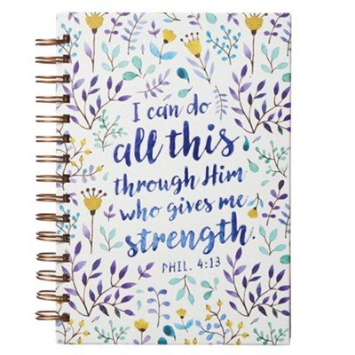 I Can Do All This Through Him Journal, Wirebound  -