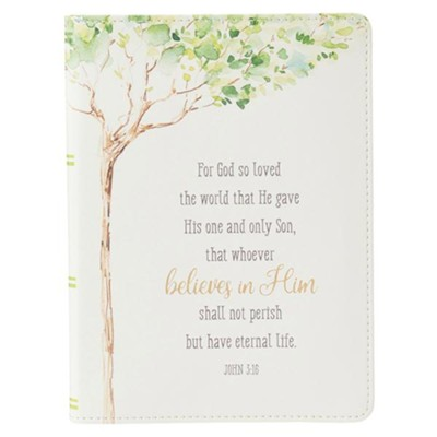 For God So Loved the World Journal, Lux Leather  -