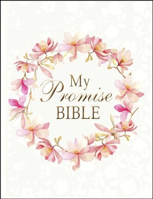 KJV My Promise Bible, White pink floral                         -