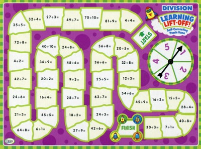 Learning Lift-Off! Division Self Correcting Puzzle Game  -