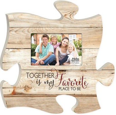 Together Is My Favorite Place To Be, Puzzle Photo Frame  -