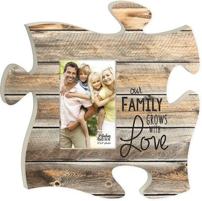 Our Family Grows With Love, Puzzle Photo Frame  -