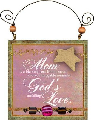Mom Is A Blessing Plaque  -