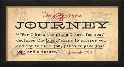 Take Joy In Your Journey Framed Art, Jeremiah 29:11  -