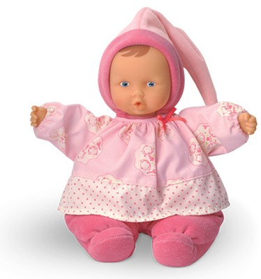 Babipouce Baby Doll, Cotton Flower, Pink  -
