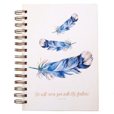 He Will Cover You With His Feathers Spiral-bound Journal  -