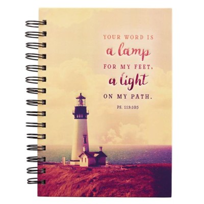 Your Word is a Lamp For My Feet Spiral-bound Journal  -