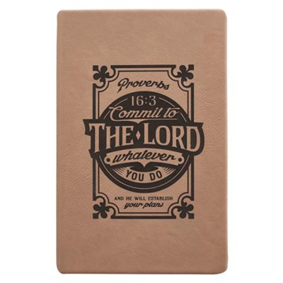 Commit to the Lord Journal, Tan  -