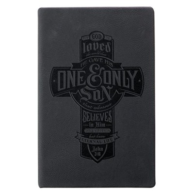 For God So Loved the World that He Gave His One and Only Son Journal, Black  -