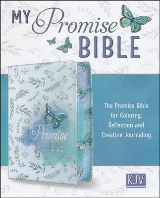 KJV My Promise Bible, White with butterfly                   -