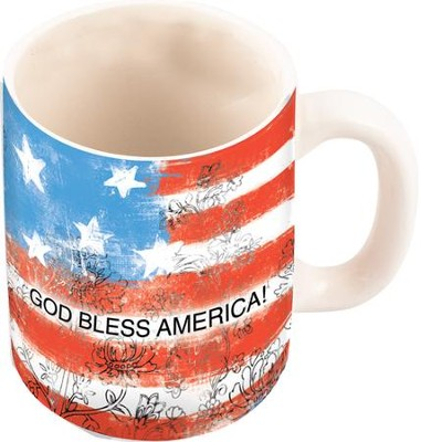 God Bless America Flag Mug, 10 ounce  -