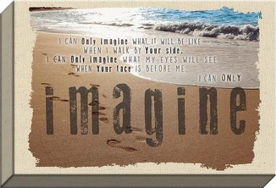 I Can Only Imagine, Beach, Canvas Print  -