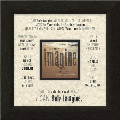 I Can Only Imagine, Beach, Framed Art  -