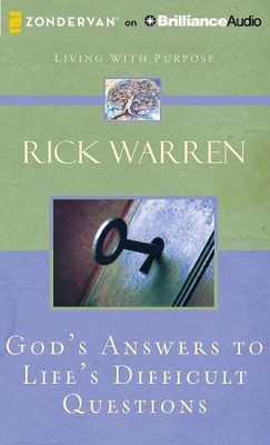 God's Answers to Life's Difficult Questions - unabridged audiobook on CD  -     Narrated By: Jay Charles     By: Rick Warren