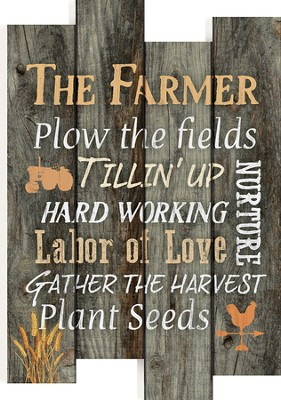 The Farmer, Staggered Pallet Wall Art  -