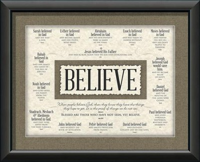 Believe, Blessed Are Those ...Wall Art - Christianbook.com