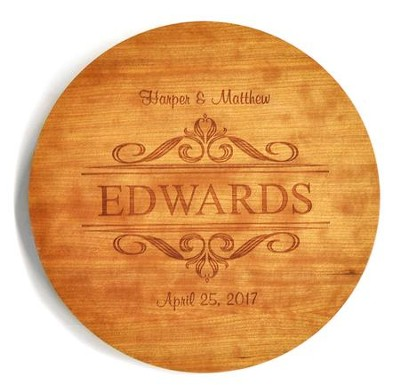Personalized, Lazy Susan, Family, Cherry   -
