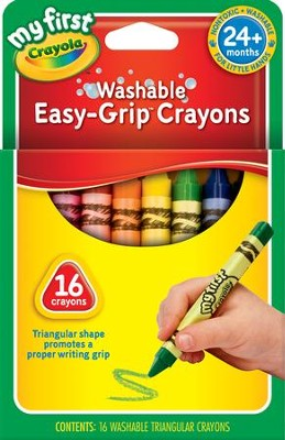 Crayola, My First Crayola, Washable Easy Grip Crayons, 16 Pieces  -
