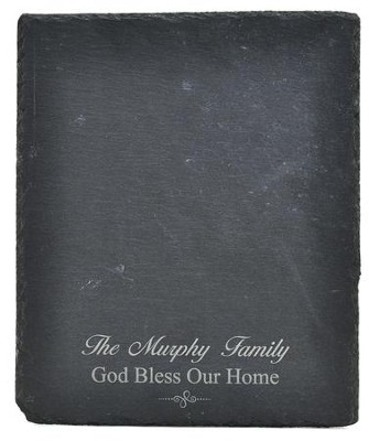 Personalized, Slate Cutting Board, God Bless Our Home   -