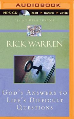 God's Answers to Life's Difficult Questions - unabridged audiobook on MP3-CD  -     Narrated By: Jay Charles     By: Rick Warren