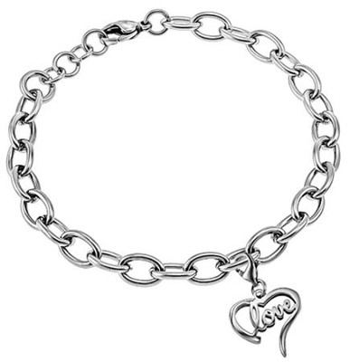 Love Handwriting Heart Bracelet, Adjustable  -