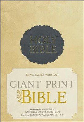 KJV Giant Print Bible, Charcoal Imitation leather  -