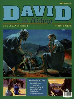 David in Hiding Flash-a-Card Set   -