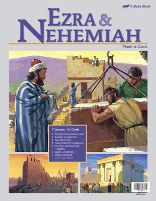 Abeka Ezra and Nehemiah Flash-a-Card Set   -