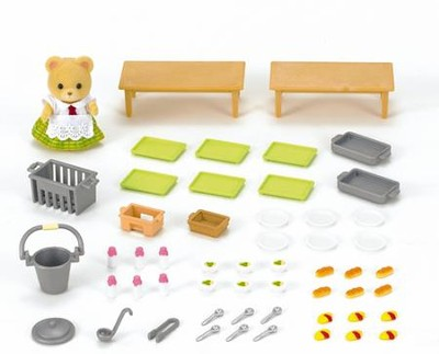 Calico Critters, School Lunch Set  -